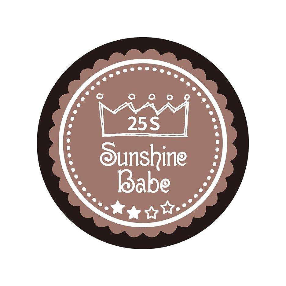 プロトタイプ確率誤Sunshine Babe コスメティックカラー 25S ミルキーココア 4g UV/LED対応