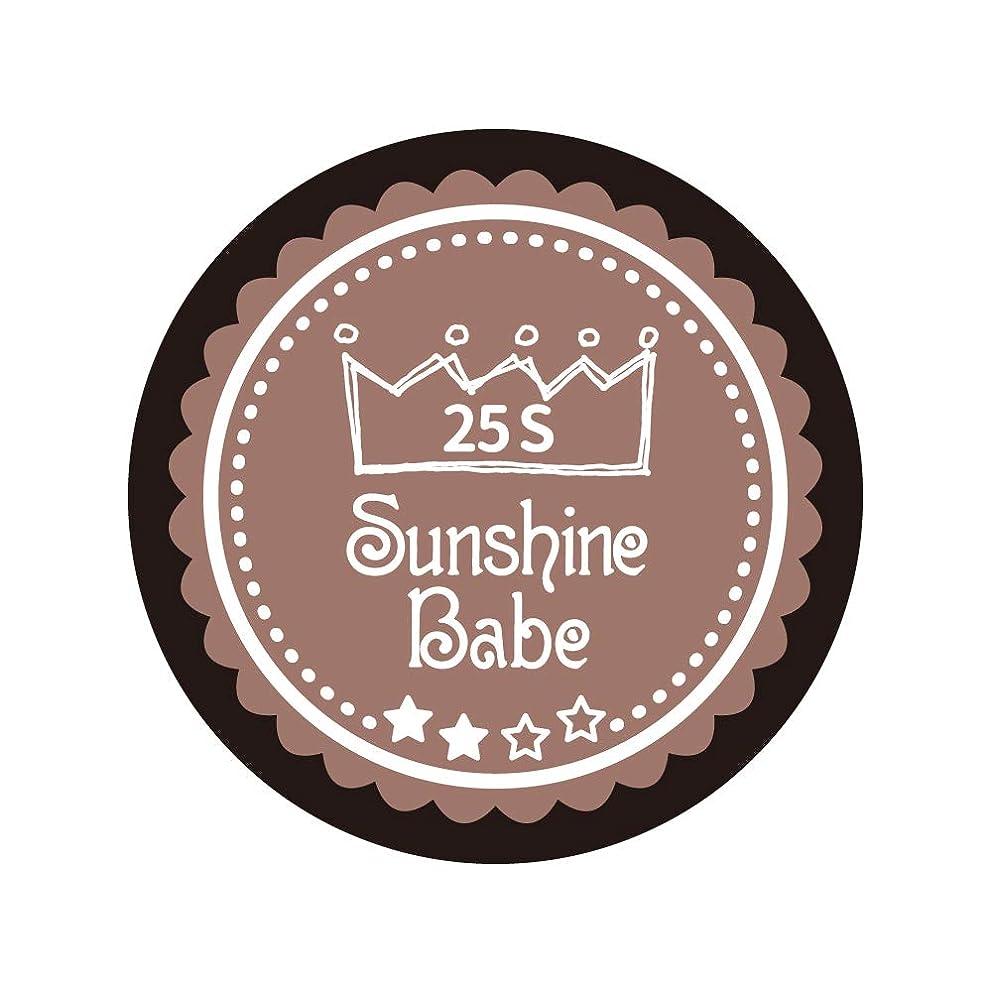 禁輸博物館アニメーションSunshine Babe コスメティックカラー 25S ミルキーココア 4g UV/LED対応