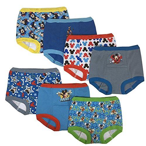 Disney Boys' Toddler Mickey Mouse Potty Training Pants Multipack, MickeyTraining7pk, 3T