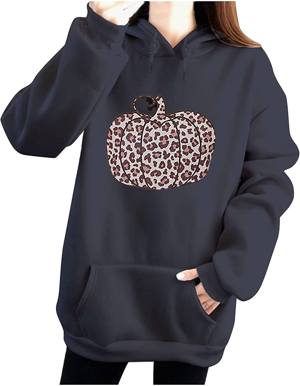 Store Women's Halloween Hooded Sweatshirts Solid Color Fashion El Paso Mall Casual