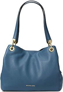 Michael Kors Women's Raven Large Leather Shoulder Bag (Brown Stud)