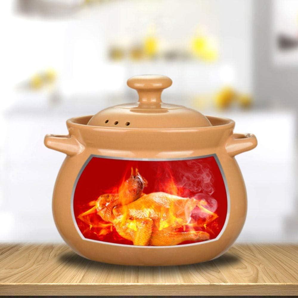 LIUSHI Casserole Casserole Plats avec Couvercle - Casserole Ragoût Pot en céramique Pot à Soupe Casserole Crock Pot Pot à Soupe Pot à Soupe Ragoût pour la santé-7.3L 2.8l