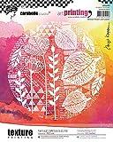 Carabelle Studio Sello de Goma con Textura en Forma Rectangular Art Printing,Flores y Hoja...