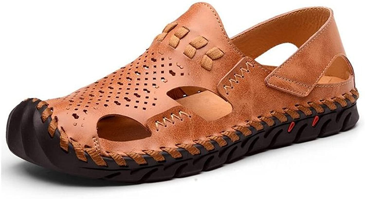 DALL Sports & Outdoor Sandals Ly-847 Comfortable And Breathable Men's shoes Flat Sandals Slippers Beach shoes Summer Season Outdoor Leisure (color   Brown, Size   EU 41 UK 7 CN 41)