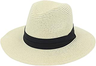 Xiang Ye Summer Hat Ladies Jazz Straw Sun Hat Outdoor Beach Hat Sunscreen Wide Black Cloth Strip Solid Color Shade Hat
