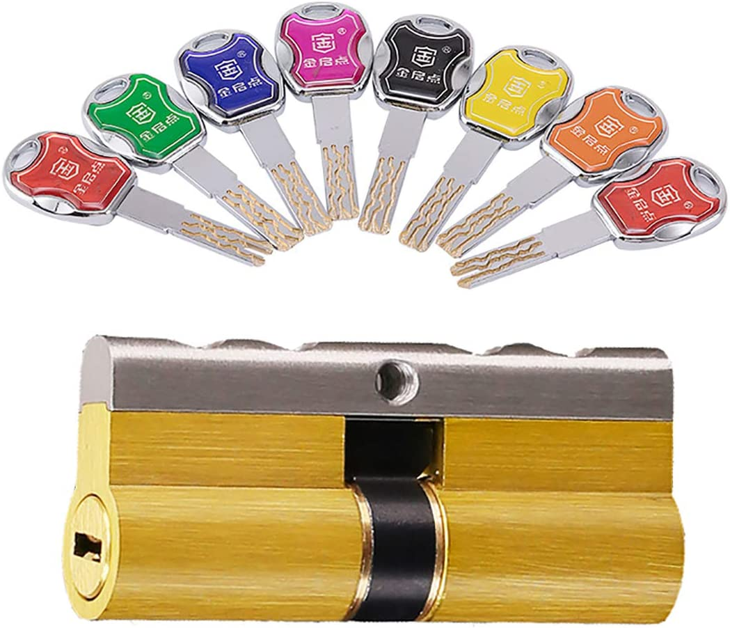 Cilindro de cierre con 8 llaves de seguridad, cerradura de cilindro para puertas de PVC y terraza de material compuesto de madera