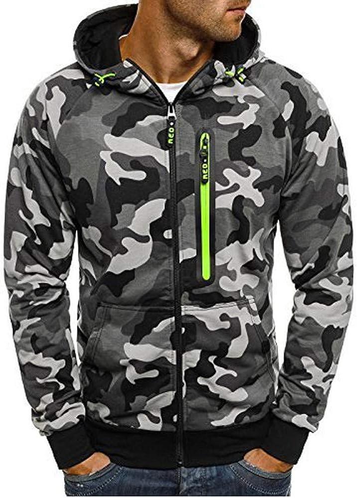 Fastbot Men's Blend Sweatshirt Camouflage Zipper Japan's largest assortment Long S Pullover Ranking TOP1