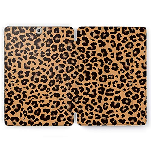 Wonder Wild Cheetah Shell Samsung Galaxy Tab S4 S2 S3 A E Smart Stand Case 2019 S6 S5e 2017 2018 Tablet Cover 8 Pen 9.7 10.1 10.5 Inch Clear Leopard Danger Animals Skin Fur Ornament Black Spot Blot