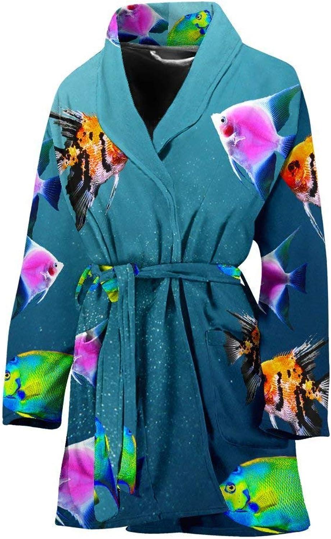 Deruj Angelfish Print Women's Bath Robe