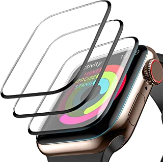[3 Pack] Screen Protector for Apple Watch Series 3/2/1 38mm, Max Coverage Screen Protector HD Clear Anti-Bubble