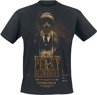 Peaky Blinders T-Shirt Shotgun da Uomo in Nero