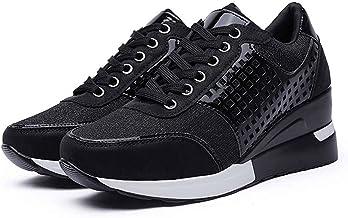LIZONGFQ Chaussures De Course pour Femmes De Grande Taille Plates-Formes Chaussures De Sport Femme Or Argent Baskets Haute...