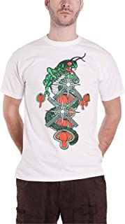 Atari T Shirt Centipede Arcade Graphic Logo Nuovo Ufficiale Uomo Bianca