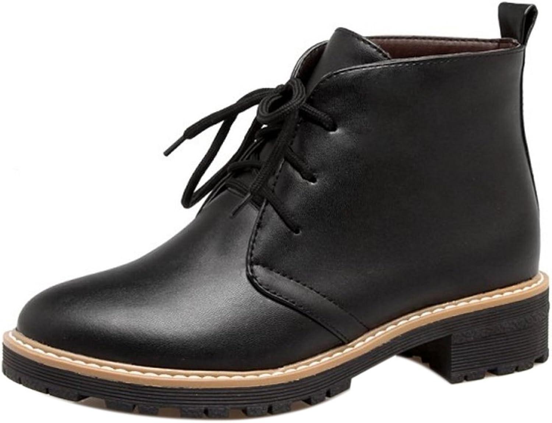 TAOFFEN Women's Lace Up shoes Boots