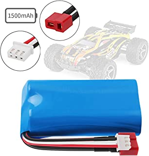 Rechargeable Li-ion Battery 7.4V 1500mAh Universal for WLtoys 4WD Rc Cars 12401 12402 12403 12404 12423 12428 Series Spare Part Replacement