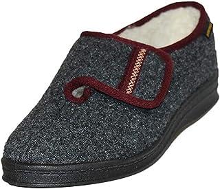 Intermax - Zapatillas de ir por casa para mujer con cierre de velcro
