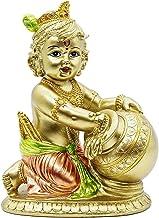Hindu Baby Krishna Statue - Indian God Krishna Figurines Home Mandir Temple - India Idol Pooja Murti Buddha Religious Lord...