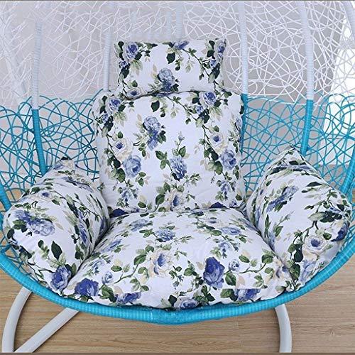 Yuany Individuele schommelstoel-kussen, hangend stoelkussen ei-hangmat stoelkussen voor de hangende tuinstoel binnen en buiten (kleur: blauw)