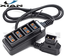 Y'XIAN P-Tap Splitter,Male D-Tap to 4-Port Female D-Tap P-Tap Hub Adapter Splitter Cable for ARRI RED Cameras Monitor Power