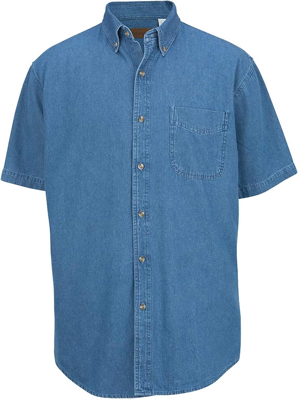 Edwards Denim Midweight Short Sleeve Shirt