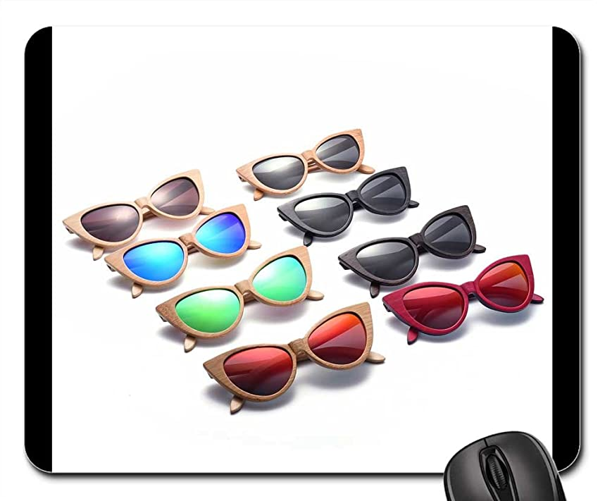 Mouse Pads - Cat Eye Sunglasses Wood Sunglasses Polarized Lenses