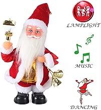 ElementDigital Christmas Dolls, 2018 Christmas Electric Vintage Animated Saxophone Dancing Music Santa Claus Doll Christmas Decorations Home Xmas Gift Kids (Santa + Lantern)