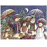 Muñeco de nieve luna Pintura al óleo kit Pintura por Números niños para adultos lienzo Pintado con pinceles,resumen Arte Decoración del hogar de estar-40x50cm(sin marco)