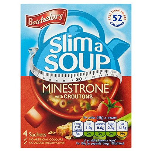 Batchelors Slim A Soup Minestrone 4S lowest price Croutons Ranking TOP19 with 61G