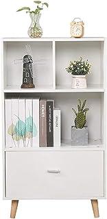 WANGXIAOYUE Armoire de bureau, bibliothèque, dossier, étagère de rangement simple au sol, armoire de rangement avec tiroir...