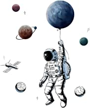 Sayopin Muursticker, 3D Astronaut Wandstickers als Wanddecoratie Voor Slaapkamer Woonkamer Kinderkamer, Home Decor Muur St...
