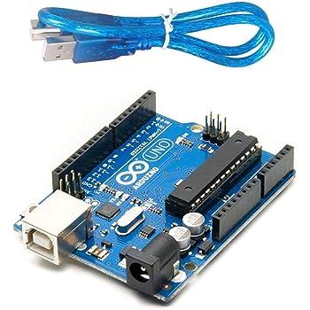 Robotbanao Uno R3 Atmega328p With Usb Cable Length 1 Feet, Blue and Black