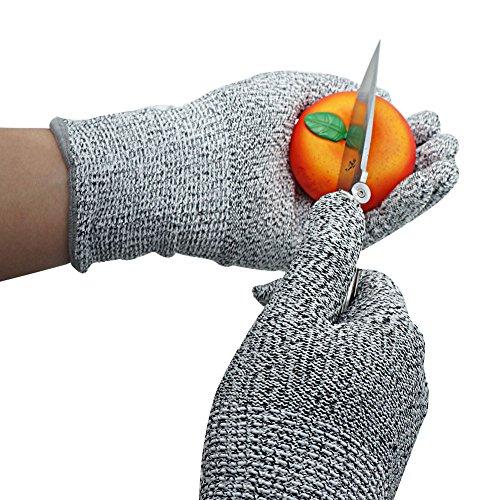 Xcellent Global Guanti Resistenti ai Tagli per Uso in Cucina Protezione Livello 5 per Tagliare, affettare, pelare, intagliare Il Legno, Misura L HG120(L)