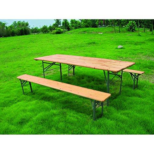 Set birra rettangolare 70x220cm 1 tavolo e 2 panche.
