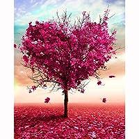 愛の木大人の子供の 手塗りデジタル油絵 ためギフト40x50 cm を描いた 数字油絵 数字キット塗り絵家の壁の装飾のため