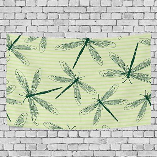 jstel libélulas 6tapiz colgar en la pared decoración para apartamento decoración para el hogar sala de estar mesa manta colcha dormitorio 60x 40cm, tela, multicolor, 80x60 inch