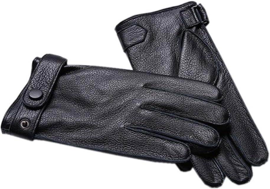 UimimiU 1 year warranty Men's Buckskin Gloves Winter Sale price Luxurious Super Leather War