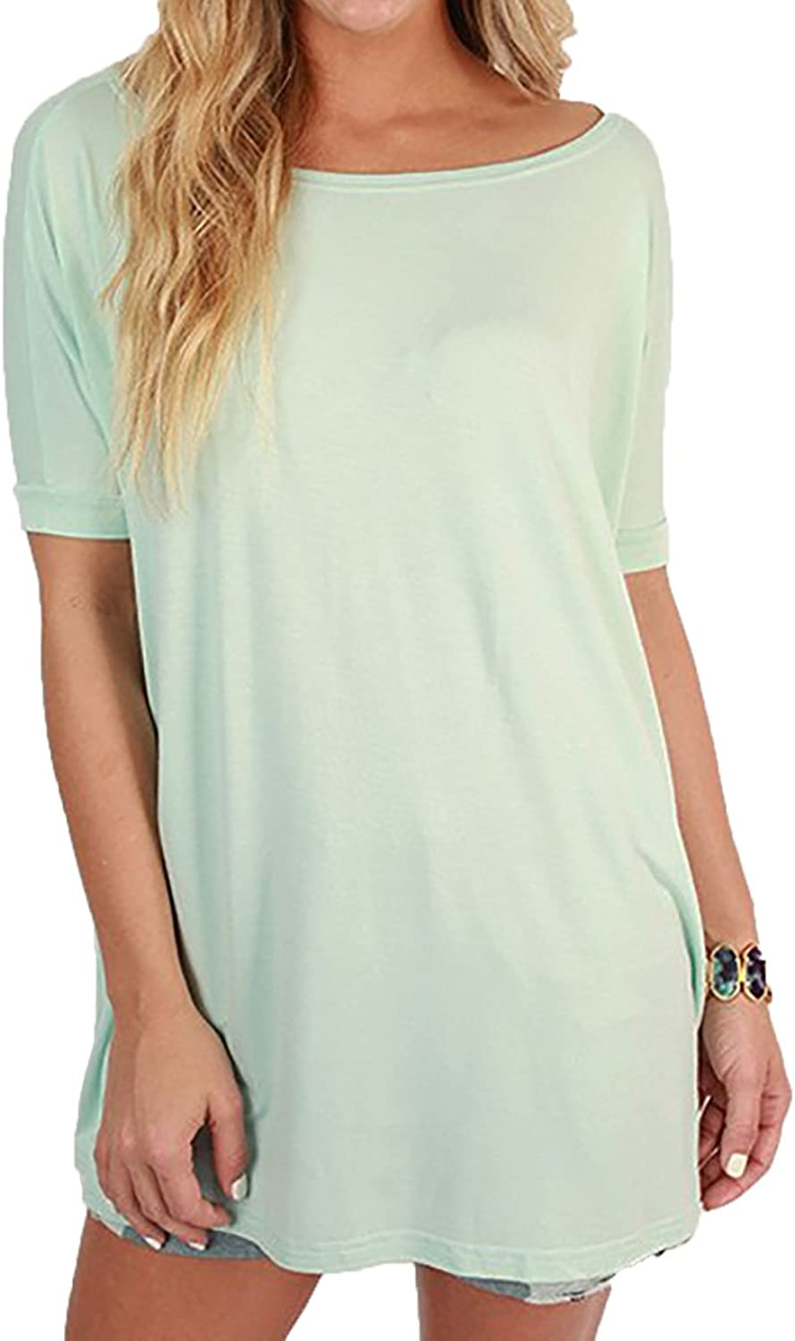 Piko Women's Famous 1988 Short Sleeve Bamboo Top Loose Fit New Mint, S