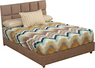 طقم ملاية سرير بنقشة شيفرون من المأمون، 180×240 سم - 3 قطع