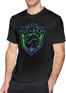 HEETENGGR O-Neck Fashion FC Juarez Bravos Mexico Short Sleeve T-Shirt for Mens and Boys Black