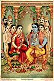 The artwork is done by a prominent artist Raja Ravi Varma who was an Indian painter and artist. He is considered among the greatest painters in the history of Indian art. His works are one of the best examples of the fusion of Europeanacademic artw...