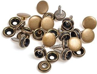 Uteruik 15 mm Schraubzwingen, 3 Teile, Edelstahl, für Bootsdeck, Segeltuch, Stoff, Holz, Basteln, 50 Stück Bronze