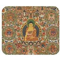 長方形のマウスパッドのための一般的なパーソナライズされたレトロスタイル仏チベットパターン