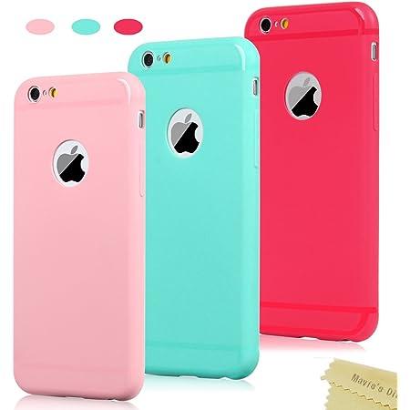 9x Cover iPhone 6, iPhone 6s Custodia Silicone Morbido Satinate ...