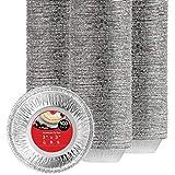 Stock Your Home 3 Inch Aluminum Foil Pie Pans (100 Count) - Disposable & Recyclable Mini Pie Pans - Foil Pie Tin for Bakeries, Cafes, Restaurants - Durable Mini Foil Pans for Pies, Fruit Tarts, Quiche