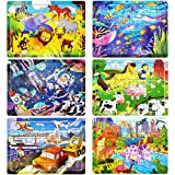 Puzzles for Kids Ages 3-8, 60 Pieces Wooden Children Puzzle Games Preschool Educational Learning Toys Set, 6Pack Wooden Jigsaw Puzzles Xmas Birthday Gifts for Boys and Girls