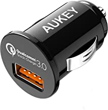 AUKEY USB Car Charger, 18w Quick Charge 3.0, Flush Fit Cell Phone Adapter for iPhone 11 Pro Max/XS, Samsung Galaxy Note 9 / S9 / Note 10 / S10, and More