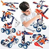 Building Toys for Kids, Erector Set for Boys 6-8, 152PCS DIY 12 in 1 STEM Toys for 6 7 8 9 Year Old Boy, Educational Construction Learning Toy for Age 10 11 12 Year Old, Engineering Building Blocks…