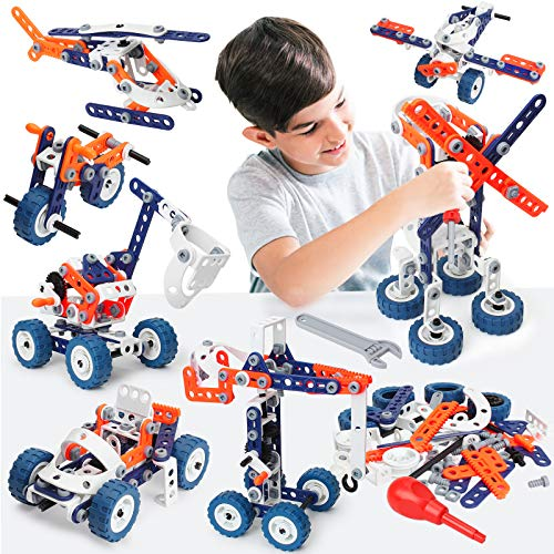 Building Toys for Kids, Erector Set for Boys 6-8, 152PCS DIY 12 in 1 STEM Toys for 6 7 8 9 Year Old Boy, Educational Construction Learning Toy for Age 10 11 12 Year Old, Engineering Building Blocks