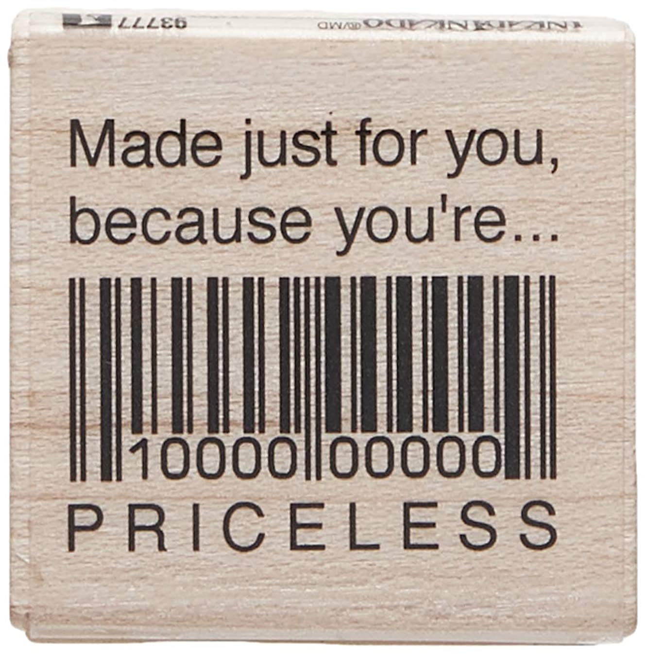 Inkadinkado ''Made Just for You'' Motivational Wood Stamp for Arts and Crafts, 1.5'' W x 1.5'' L