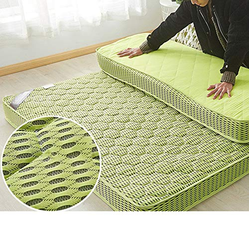 LBYLY Single Mattress, Memory Foam Mattress, Single Mattress With Memory Foam And Luxurious Knitted Micro Qui Stitched Mattress,200x200cm-Green
